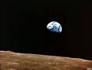 The Earth - from the Moon's orbit, Christmas 1968, by Jim Lovell